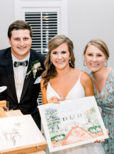 Rose Hill Live Wedding Painter - Picture by Tiffany L Johnson Photography
