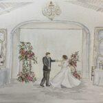 Merrimon Wynne Live Wedding Painting for Winter Wedding