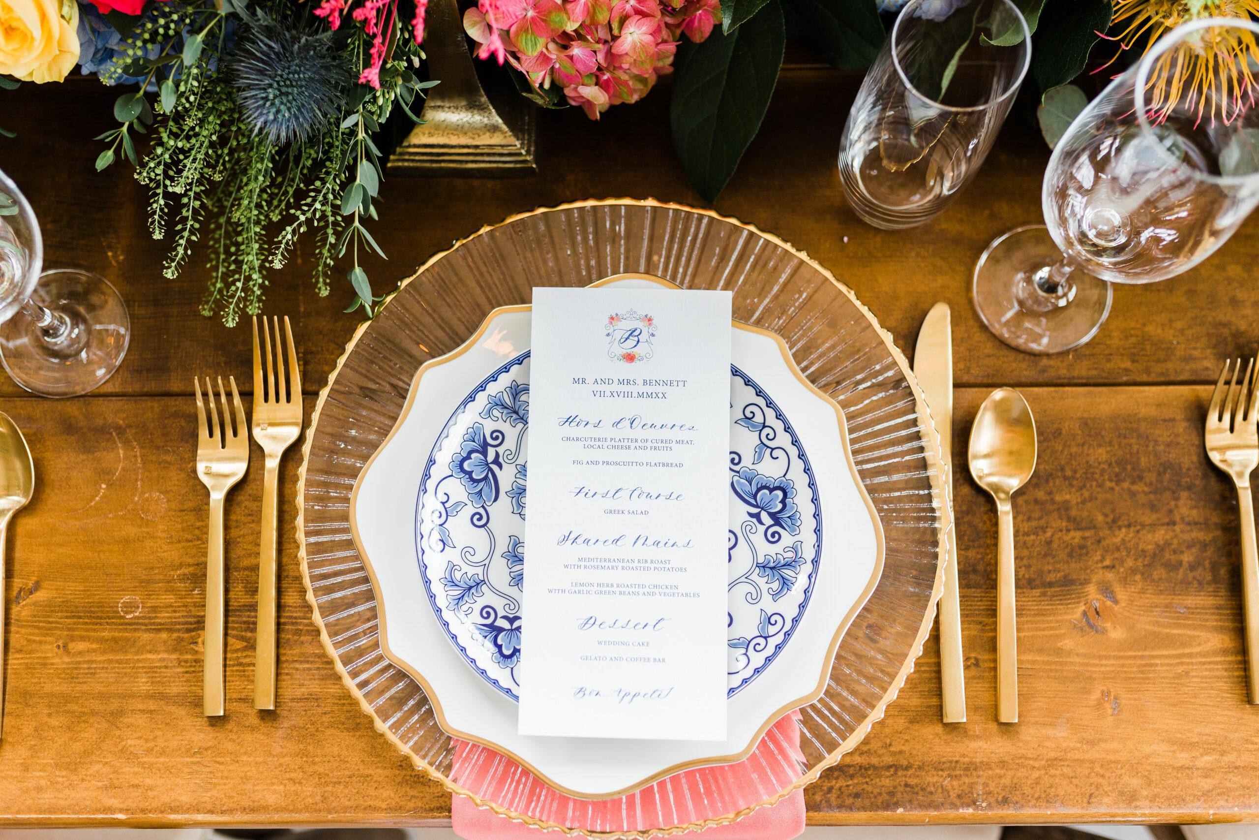 Custom Watercolor Venue Wedding Program