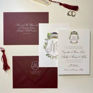 the bradford crest wedding invitation
