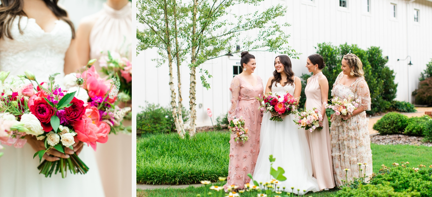 Red and blush wedding at The Barn of Chapel Hill