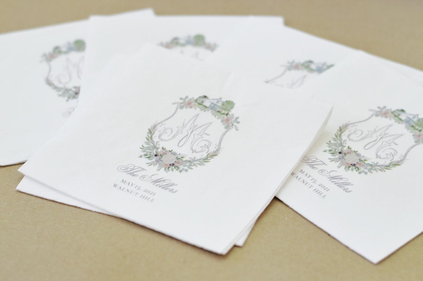 custom designed cocktail napkins