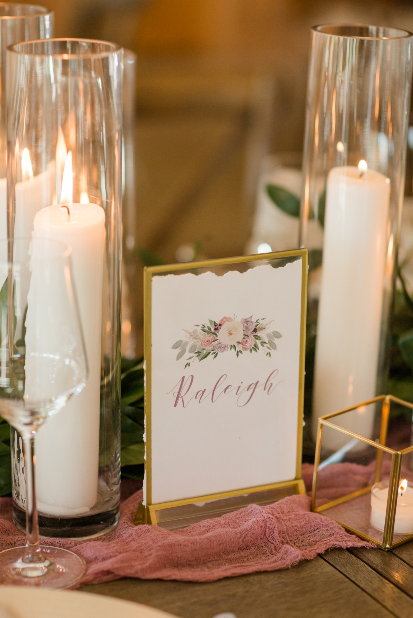 custom table numbers by Ashley Triggiano