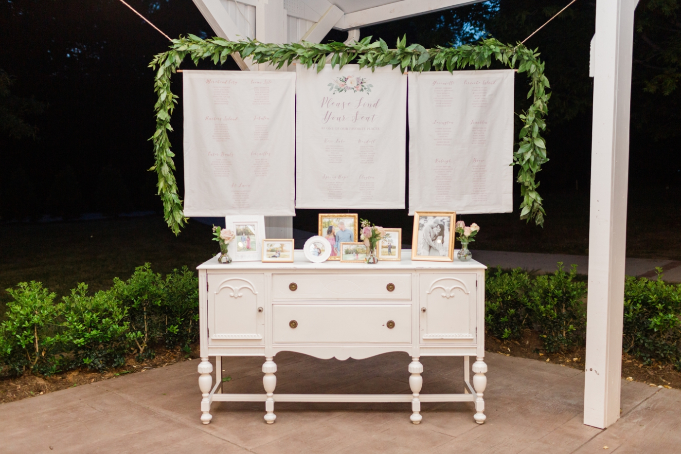 fabric seating chart with custom illustrations