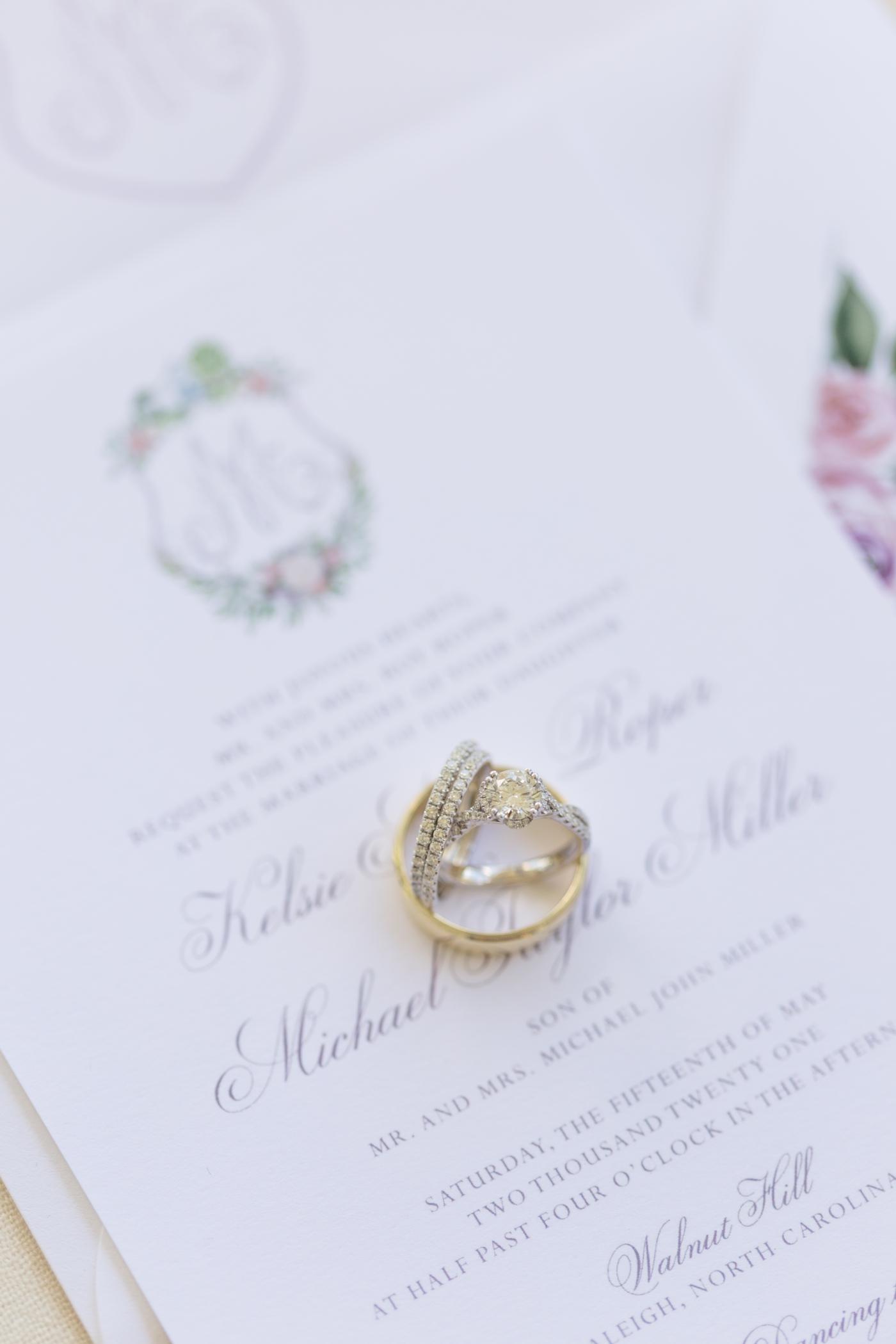 Semi-custom venue wedding invitations by Ashley Triggiano