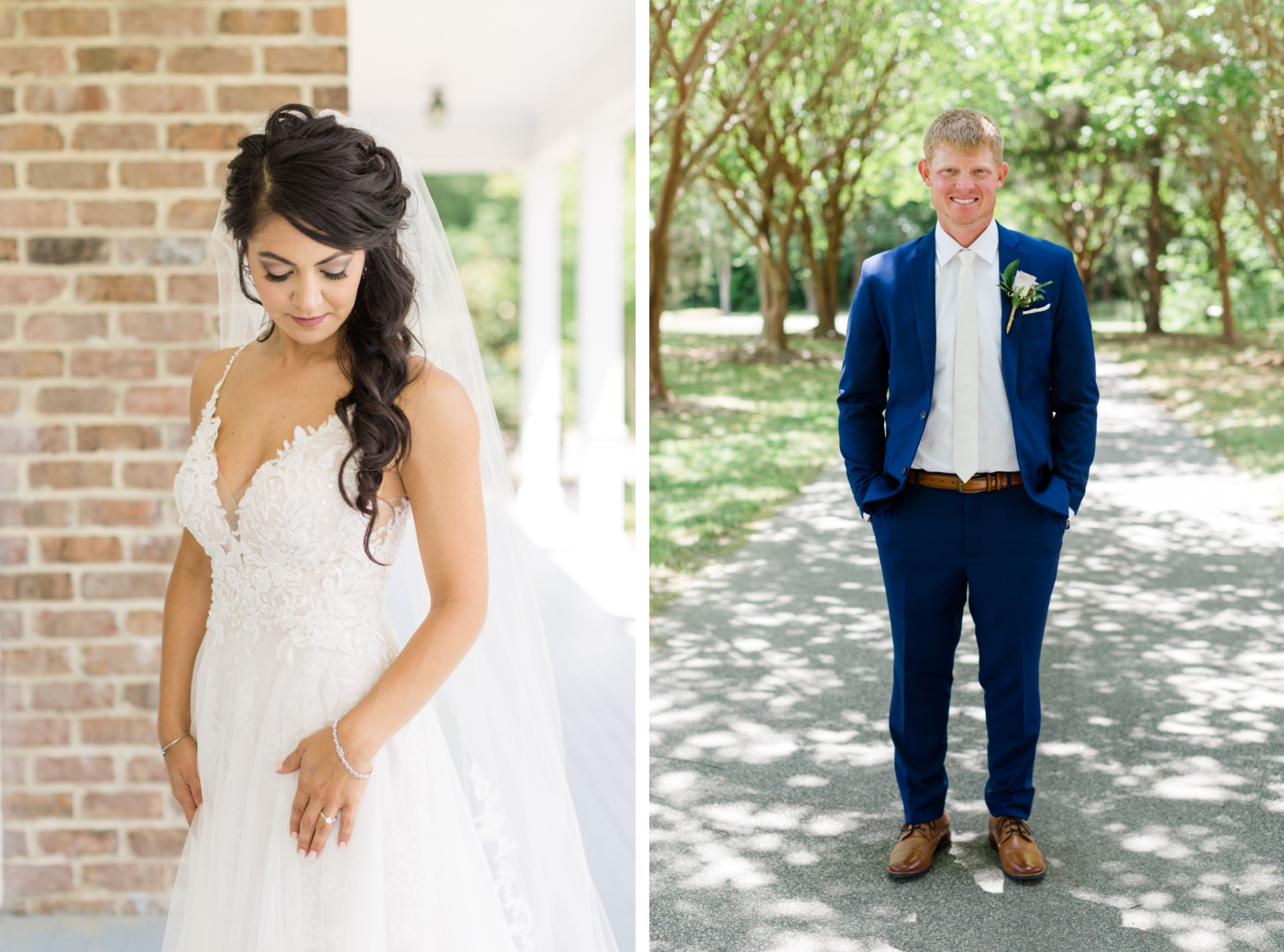 bride and groom at Walnut Hill