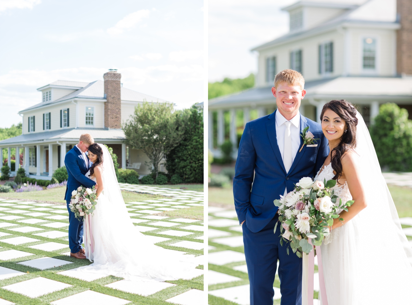 bride and groom portraits at Walnut Hill