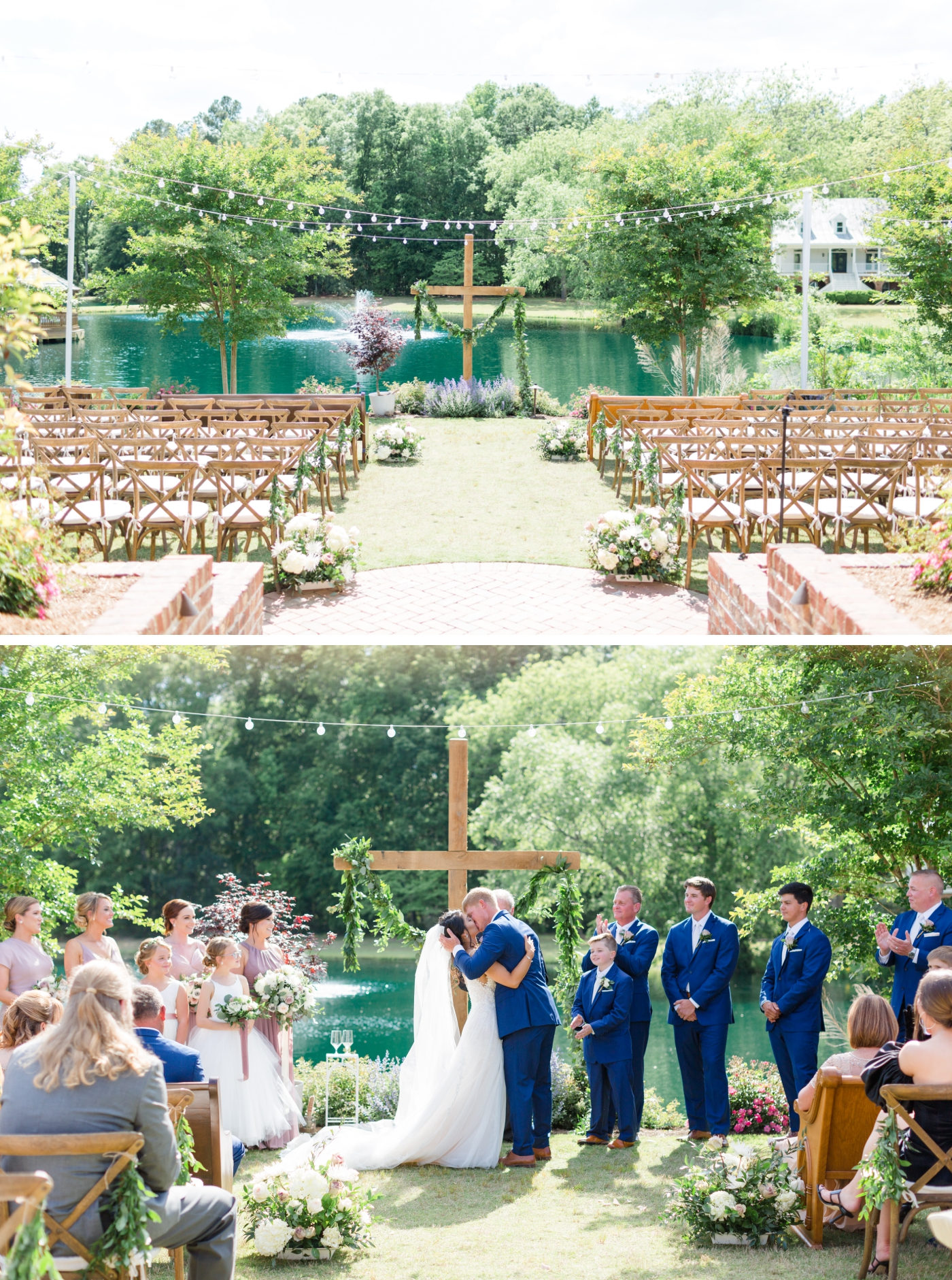 wedding ceremony at Walnut Hill in Raleigh