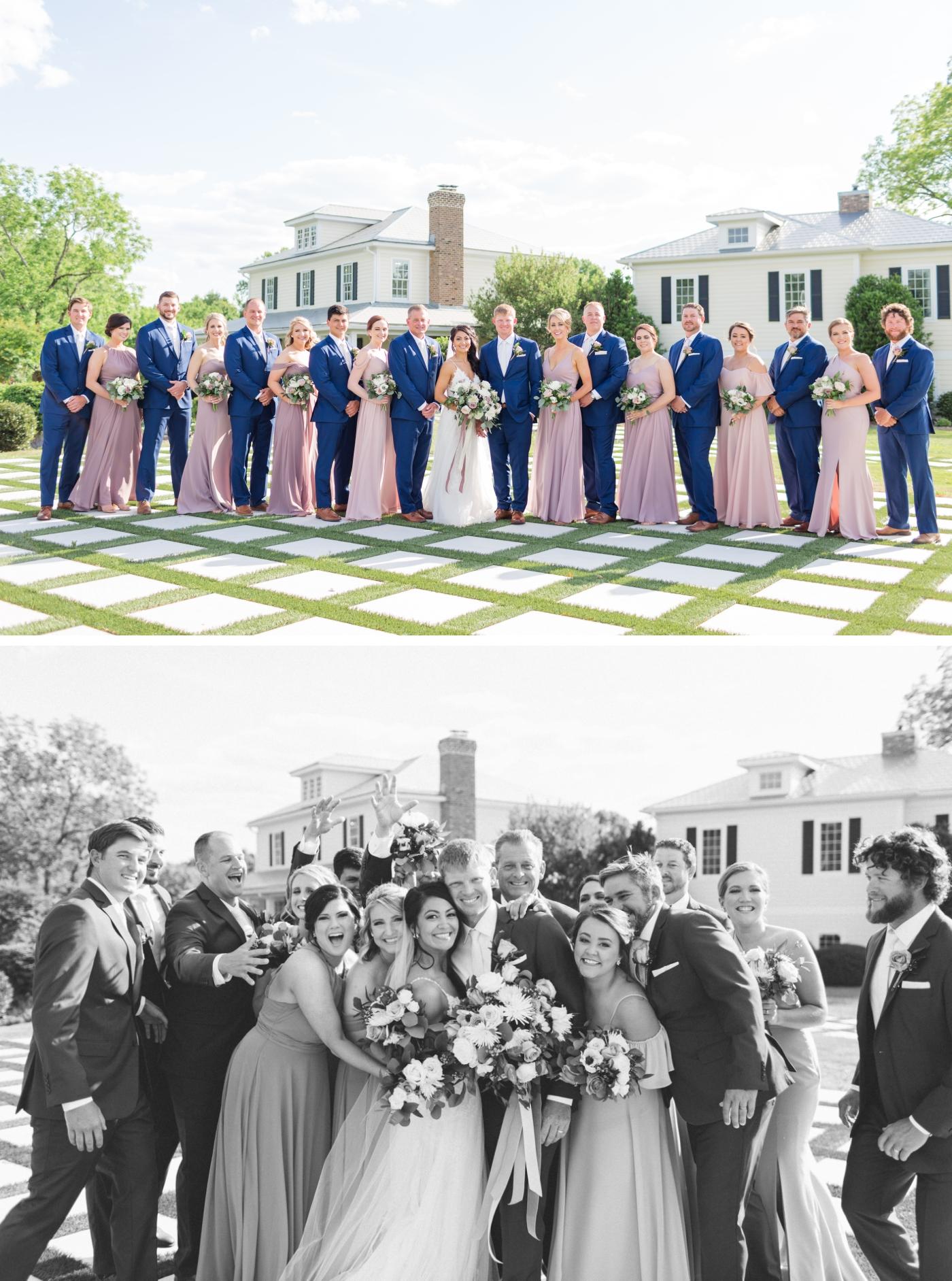 bridal party at Walnut Hill