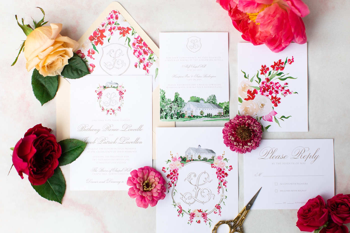 A breakdown of how much wedding invitations cost